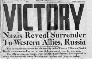 8 Mayıs 1945'ten Bir Gazete Manşeti