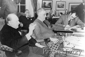 Arcadia Konferasında Başkan Roosevelt