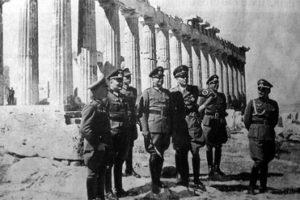 Acropolis önünde Alman Subaylar