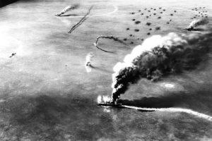 Vurulmuş Bir Japon Destroyeri